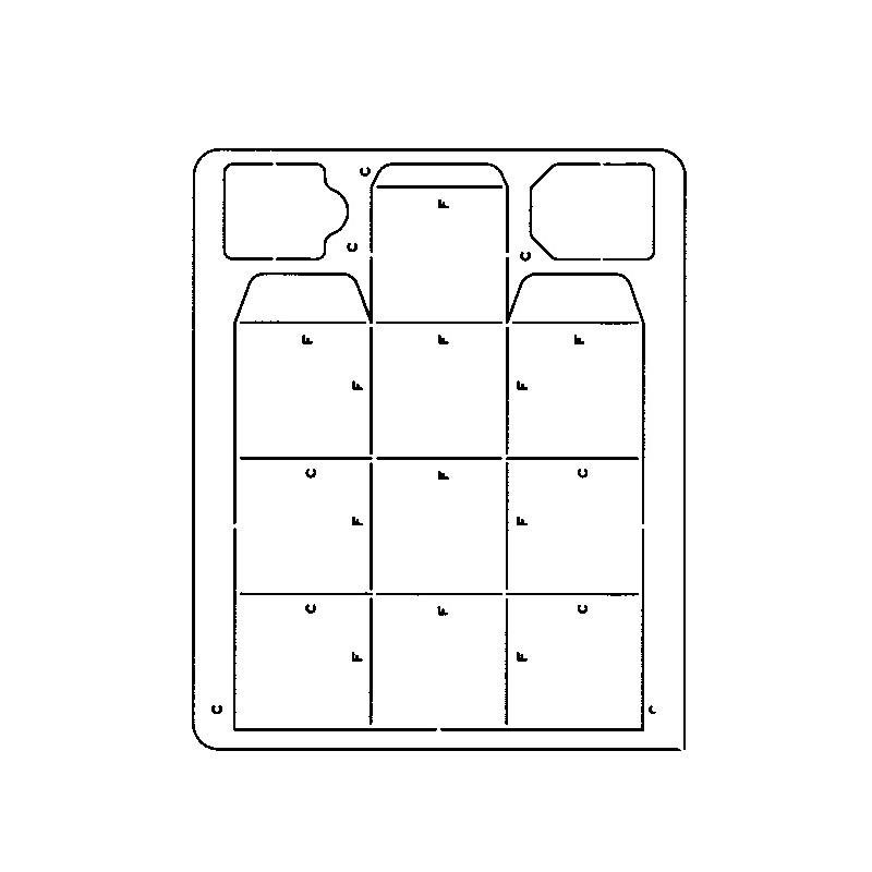 gabarit d coupe papier photo boite carr e artemio scrapbooking. Black Bedroom Furniture Sets. Home Design Ideas
