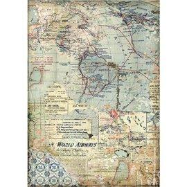 Papier de riz Stamperia 21x29,7cm Cartes