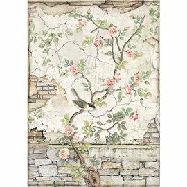 Papier de riz Stamperia 21x29,7cm Oiseau sur branche