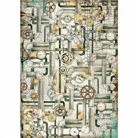 Papier de riz Stamperia 21x29,7cm Tubes