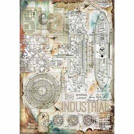 Papier de riz Stamperia 21x29,7cm Industrielle