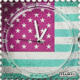 Montre Stamps cadran de montre miss america urban