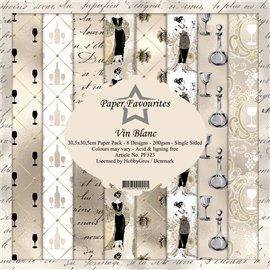 Papier scrapbooking assortiment Dixi Craft Paper Favourites vin blanc 30x30 8fe