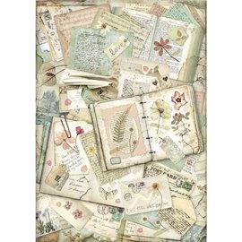 Papier de riz Stamperia 42x30cm Cahier Amour