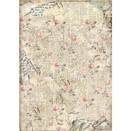 Papier de riz Stamperia 42x30cm Son Roses
