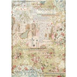 Papier de riz Stamperia 42x30cm Papier Peint couches