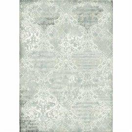 Papier de riz Stamperia 42x30cm Bleu Damasque