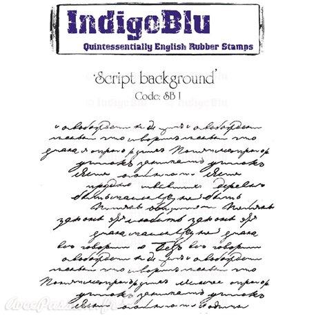 Tampon caoutchouc IndigoBlu Script A6