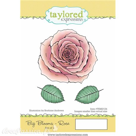 Tampon caoutchouc Taylored Expressions grande rose Big Blooms