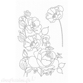 Tampon Clear Stamps My Favorite Things Rose Garden