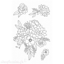 Tampon Clear Stamps My Favorite Things Fantasy Florals