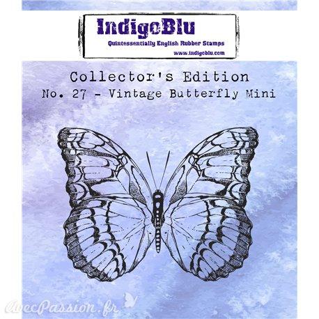 Tampon caoutchouc IndigoBlu Vintage Butterfly Mini
