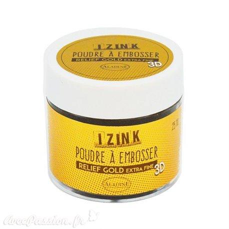 Poudre à embosser doré extra fine Aladine izink 25ml