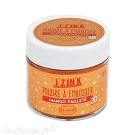 Poudre à embosser pailleté Mango Aladine izink 25ml