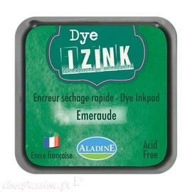 Encreur tampon Aladine Dye Izink séchage rapide Vert Emeraude
