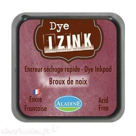 Encreur tampon Aladine Dye Izink séchage rapide Marron Brou De Noix