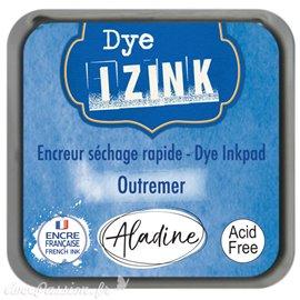 Encreur tampon Aladine Dye Izink séchage rapide Bleu Outremer