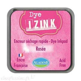 Encreur tampon Aladine Dye Izink séchage rapide Rose Rosee