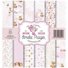 Papier scrapbooking assortiment Amelie Prager agugutata girl 7fe 30x30