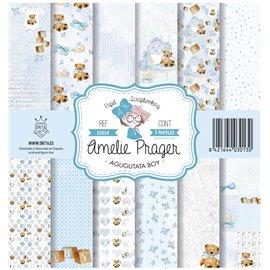 Papier scrapbooking assortiment Amelie Prager agugutata boy 7fe 30x30