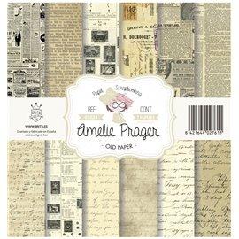 Papier scrapbooking assortiment Amelie Prager old paper 7fe 30x30