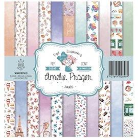 Papier scrapbooking assortiment Amelie Prager paris 12fe 30x30