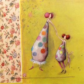 Carte postale Gaelle Boissonnard mere et fille