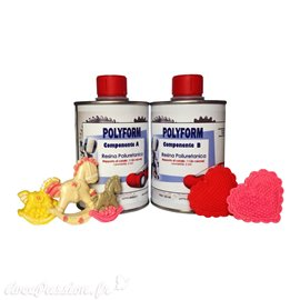 Résine de polyuréthane pour moule et coulure Polyform 1kg