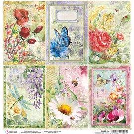 Papier scrapbooking réversible Ciao Bella Micro Cosmos cards 30x30
