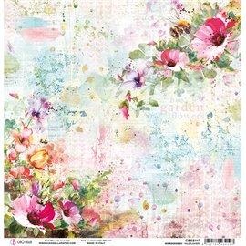 Papier scrapbooking réversible Ciao Bella Micro Cosmos wildflowers 30x30