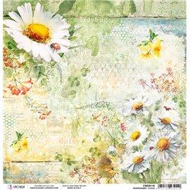 Papier scrapbooking réversible Ciao Bella Micro Cosmos daisies 30x30