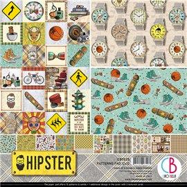 Papier scrapbooking assortiment Ciao Bella Hipster 8fe 30x30