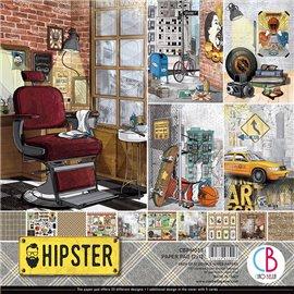 Papier scrapbooking assortiment Ciao Bella Hipster 12fe 30x30