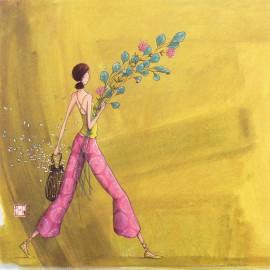 Carte postale Gaelle Boissonnard le bouquet champetre