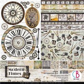 Papier scrapbooking assortiment Ciao Bella Modern Times 8fe 30x30