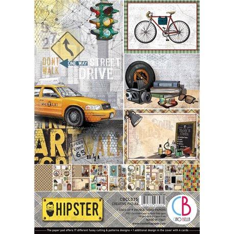 Papier scrapbooking A4 assortiment Ciao Bella Hipster 9fe