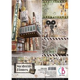 Papier scrapbooking A4 assortiment Ciao Bella Modern Times 9fe