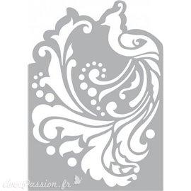 Pochoir masque plastique arabesque peacock A5