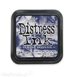 Encre distress Ranger Tim Holtz chipped sapphire