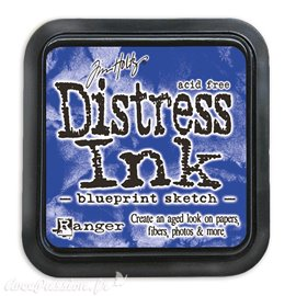 Encre distress Ranger Tim Holtz blueprint sketch