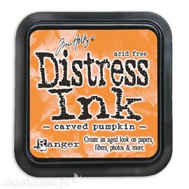 Encre distress Ranger Tim Holtz carved pumpkin
