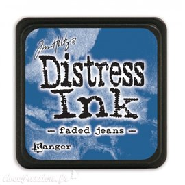 Encre distress mini Ranger Tim Holtz faded jeans