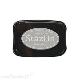 Encre Stazon gris permanente pour scrapbooking Dove Gray