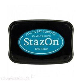 Encre Stazon bleu permanente pour scrapbooking Teal Blue
