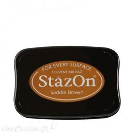 Encre Stazon rose permanente pour scrapbooking Saddle Brown