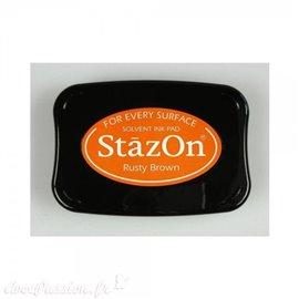 Encre Stazon permanente Rusty Brown