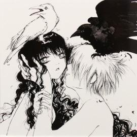 Carte postale Camilla d'Errico fille et corbeaux