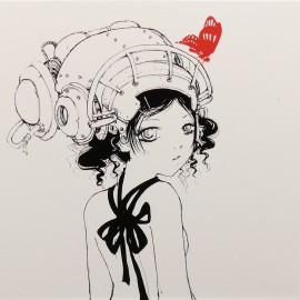 Carte postale Camilla d'Errico fille de dos