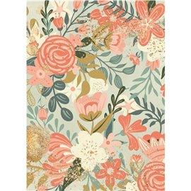 Papier de riz Stamperia 21x29,7cm tapisserie de fleurs