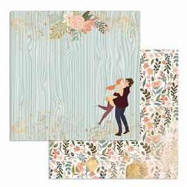 Papier scrapbooking réversible Stamperia doube face 30x30 Lovers